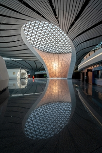 Interior of Beijing Daxing Airport