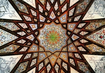 Interior of dome at Fin Garden Kashan Iran