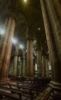 Interior of Duomo di Milano on All Hallows
