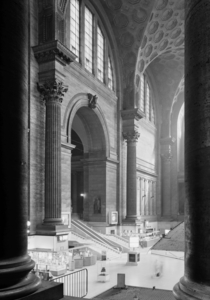 Interior of Pennsylvania Station New York a year before demolition