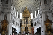 Interior of St Michaels Church Munich Germany