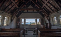 Interior of the Church of the Good Shepherd Lake Tekapo New Zealand