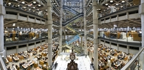 Interior of the Lloyds building London
