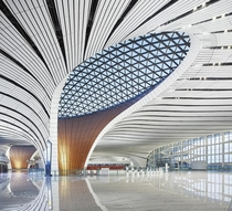 Interior of the new Beijing Daxing International Airport