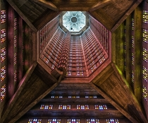 Interior of the Saint-Joseph Church France - by Auguste Perret