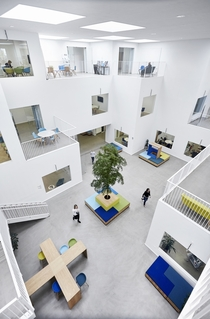 Interior of University College North Aalborg North Denmark Region Denmark