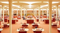 Interior SC Johnson Wax Headquarters - By Frank Lloyd Wright