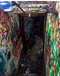 Interior stairway of the abandoned Warner and Swasey Observatory Cleveland Ohio