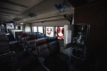 Interior to an Abandoned Long Island Railroad train