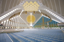 Interior view of the Faisal Mosque Islamabad Pakistan
