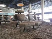 International airport and planes abandoned  in Cyprus