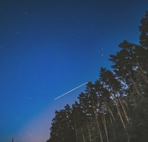 International space station Captured with mobile phone