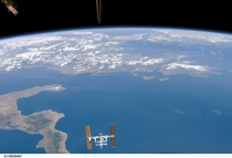 International Space Station ISS view from STS-