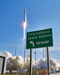 International Space Station On-Ramp -- Antares launches Cygnus to Station captured by my sound-activated camera