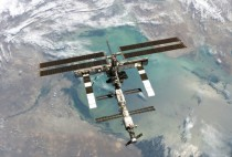 International Space Station over the Caspian Sea taken by STS- on August