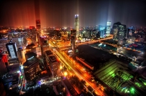 Intersection of  National Rd and E rd Ring Road Beijing  by utreyratcliff