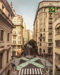 Intersection of streets - So Paulo Brazil