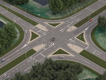 Intersection redesign for optimal traffic flow and safety at crossing GooisewegSpiekweg Zeewolde NL