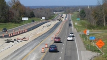 Interstate  Under Construction- Monroe County Indiana