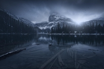Into the darkness Lake Ohara Canada OC  jabisanz