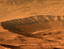 Intrepid Crater on Mars captured by the Opportunity Rover  Image Kevin Gill NASAJPL-Caltech