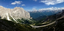 iPhone photo does not do this view the justice I think this deserves literally took my breath away Dolomites Italy  OC