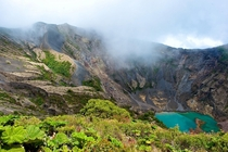 Irazu volcano crater at  ft altitude Costa Rica  by Sebastien Lagree