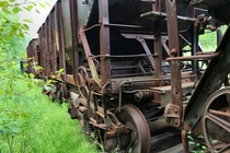 Iron ore rail cars rusting away near Morgan Park MN