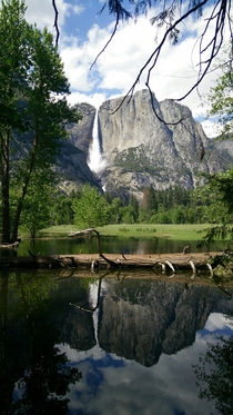 Is Yosemite cheating My first time seeing mountains and a waterfall like this
