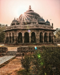 Isha Khans Tomb Located in the same complex as the Humyauns Tomb New Delhi The tomb of Isa Khan was built during his lifetime between -