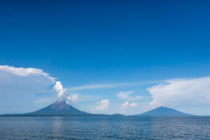 Isla de Ometepe in Lake Nicaragua formed by two volcanoes