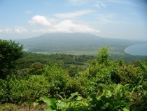 Isla de Ometepe Nicaragua  The view from one volcano to another