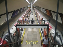 Island Platform at Clapham North Tube Station London