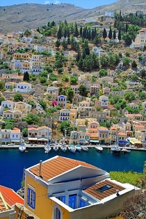 Island view of Symi Greece