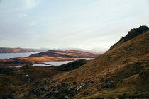 Isle Of Skye Scotland Taken from the base of Old Man Of Storr looking southeast OC