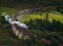 Isle of Skye Steam train Jacobi who played the role of the  Hogwarts Express  Scotland  photo by Daniel Korzhonov