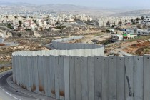 Israeli amp Palestinian villages next to West Bank Barrier