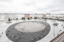 Israels Plads literally Israels Square is a large public square in central Copenhagen Denmark It was completed in  It hovers over the many cars that once dominated Israels Plads which are now placed underground