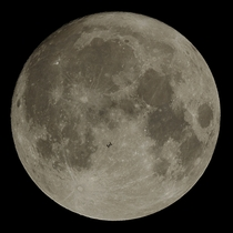 ISS transit of Novembers supermoon Not the Oct supermoon APOD