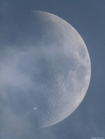 ISS Transit Over the Moon