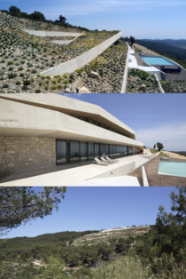 Issa Megaron a  energy independent private house dug in hill on the island of Vis in Croatia  designed by PROARH studio x