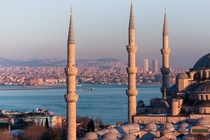 Istanbuls Asian side through Sultanahmet Mosque -