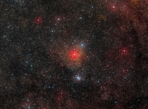 It can be seen with the naked eye in Centaurus is  times the diameter of Sol and one of the ten largest stars found  larger than the famous red supergiant Betelgeuse and about one million times brighter than the Sun HD  a yellow hypergiant that cant last
