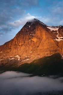 It feels like you can almost reach out and touch the summit - The Eiger Swiss Alps
