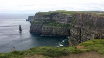 It finally stopped raining Cliffs of Moher Ireland