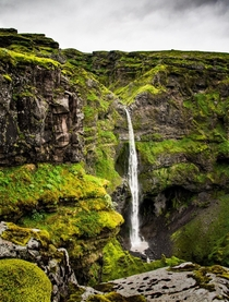 It is about a two hour hike to get to this beautiful and almost unknown waterfall in Iceland  - more of my landscapes at insta glacionaut