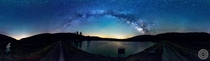 It is challenging on the east coast to see the Milky Way as clearly as our ancestors used to This is my favorite location some of the darkest skies here Spruce Knob Lake WV a full  Pano