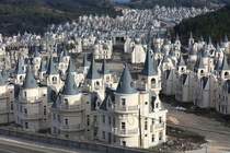 It might look like fairytale accommodation from afar but look closer and youll find that this village of identical chateaux in the hilltops of northwest Turkey is an abandoned ghost town