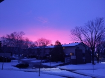 It really hasnt snowed much here at all this winter but this is still a beautiful winter sunrise and I wanted to share