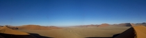 It took  minutes to climb to the top of Dune in the Namib desertNamibia But it was all worth it for the view from the top In large panorama